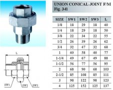 union conical joint