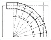 Design for pipe elobws(22.5 degree)