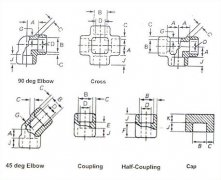 socket Weld 90°elbow ,Threaded 90°elbow pipe fitting